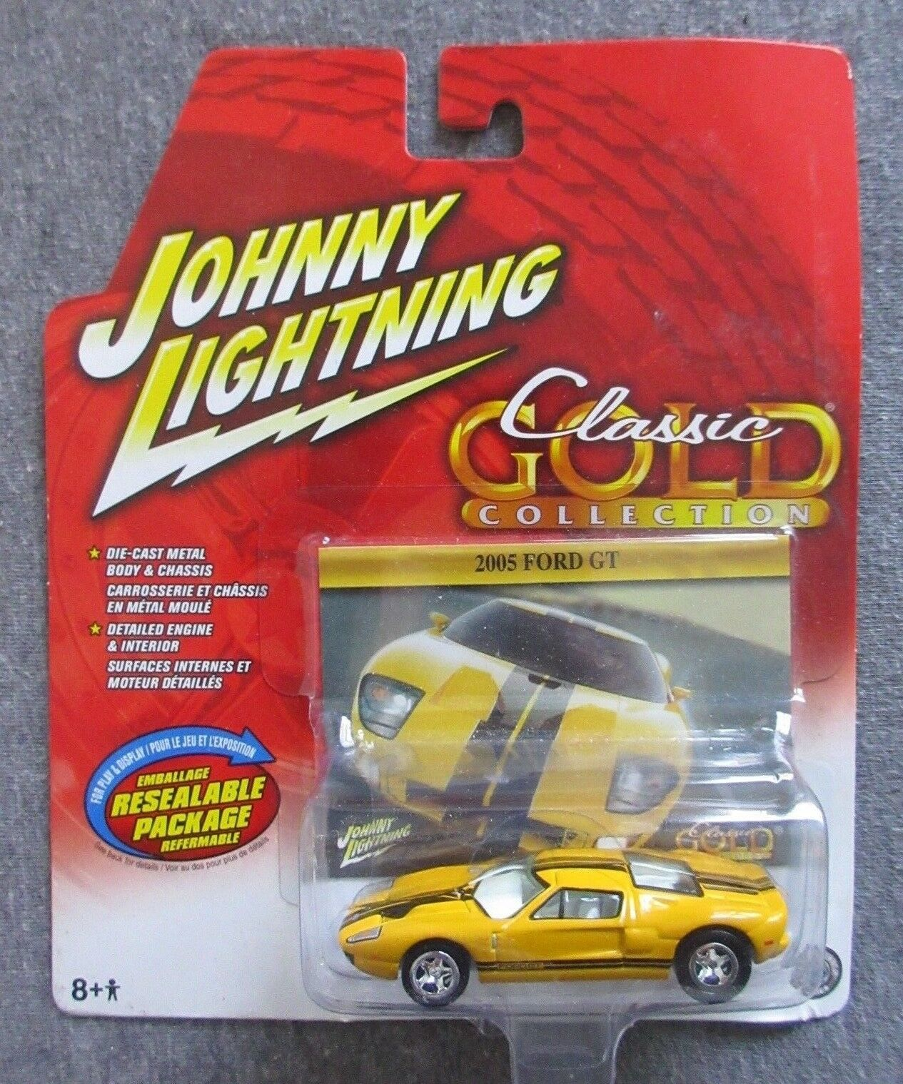 NIP RARE JOHNNY LIGHTNING WL WHITE 2005 FORD GT CLASSIC gold1 64