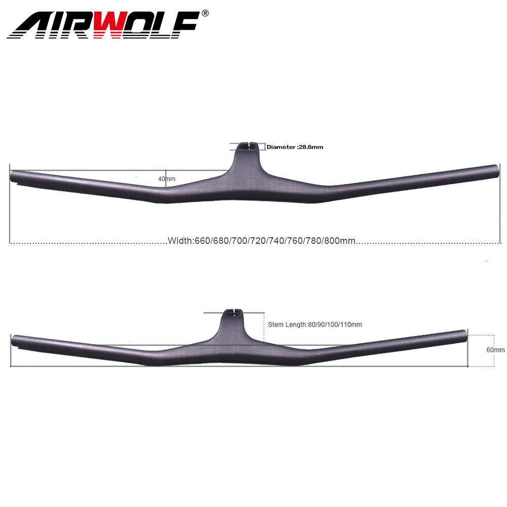 Manillar  Bicicleta de montaña de Cochebono integrado manillar de bicicleta MTB 660-800mm  Con precio barato para obtener la mejor marca.