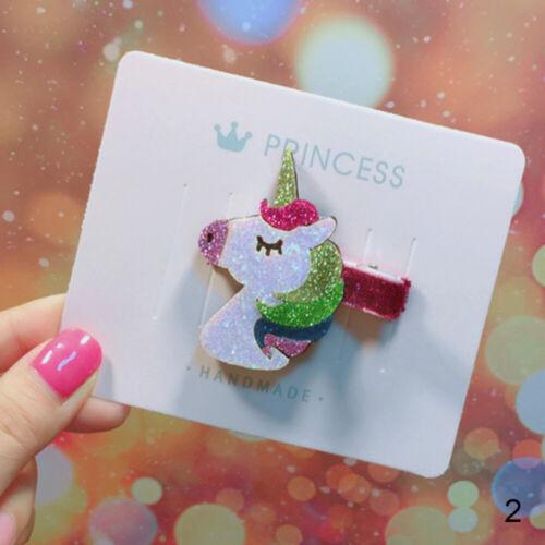 Hairpin Bowknot star rainbow unicorn Baby girl hairband Mini hair clip
