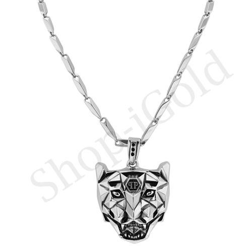 "Men Women Stainless Steel Wolf Lion Tiger Head Pendant 24/""/' Bullet Chain Set"