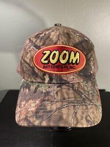 Zoom Bait  Company Mossy Oak camo baseball cap Strapback embroidered logo *new*