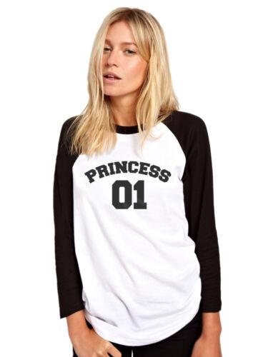 Princess Number 1 Fashion Hipster Tumblr Womens Baseball Top