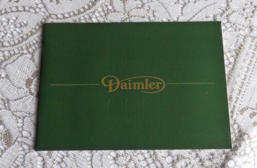 Daimler Sales Brochure. DS420 Brochure. Daimler Double Six Brochure. J/UK/85/013