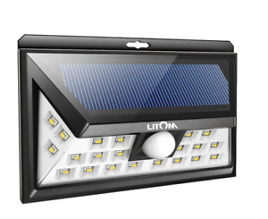 2X Litom 24LED Solar Lights Super Bright Motion Wide Angle Sensor Solar Lights