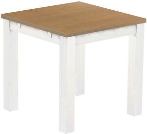 Esstisch Holz Pinie Massiv Tisch 80x80 Eiche Natur Weiss