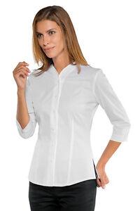 Isacco Bianca Camicia Francese Manica 025650t 3 Zefiria Stretch Camicia 4 Cod Donna Camicia BIw0vT