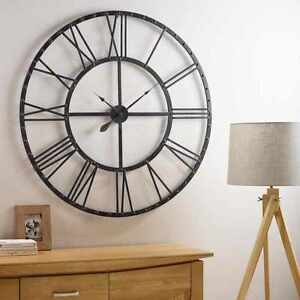 60CM-EXTRA-LARGE-ROMAN-NUMERALS-SKELETON-WALL-CLOCK-BIG-GIANT-OPEN-FACE-ROUND