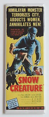 Snow Creature FRIDGE MAGNET (1.5 x 4.5 inches) insert movie poster bigfoot yeti