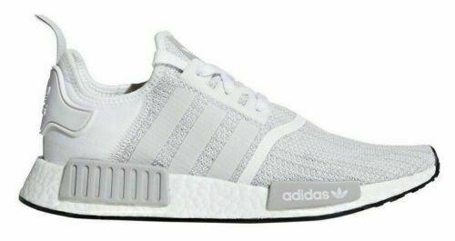 [B79759] Mens Adidas Originals NMD_R1 Sneaker - White Blizzard