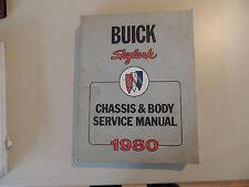 Buick SKYLARK 1980 Service manual Werkstatthandbuch Reparaturanleitung