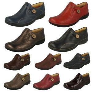 Planos Un Estructurado Clarks Mujer Zapatos Ligero Mocasín Cuero Loop 4Y5qanxAa