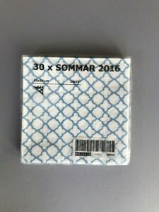 IKEA-Blue-White-Sommar-2016-Tea-Party-Birthday-Party-30-pack-Napkins-NIP