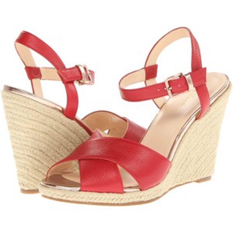 Nouveau Cole Haan Hart Compensé Femme Wedge Chaussures, Rouge Femme Sz 10