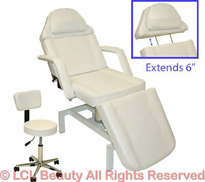 Brand New White Hydraulic Facial Table Bed Chair Spa