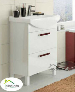 badm bel waschbecken 50 55 60 cm waschbeckenunterschrank f e schubladen m c ebay. Black Bedroom Furniture Sets. Home Design Ideas