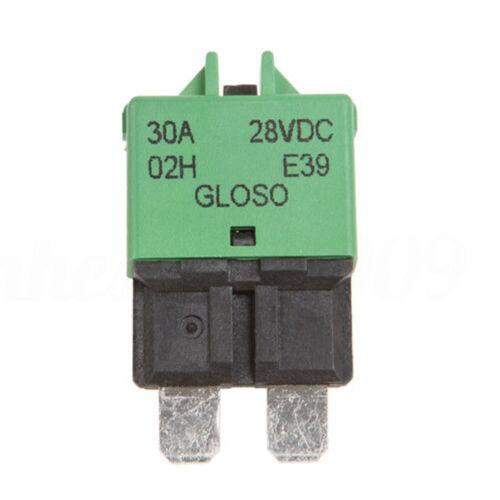 Manual Reset Circuit Breaker Blade Fuse For Auto Car Boat Truck 12V//24V 5-30A