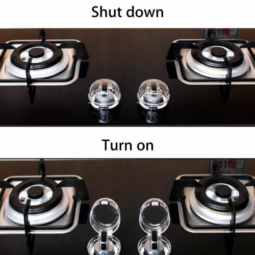 4Pcs//Set Universal Oven /& Stove Knob Covers Clear View Child Baby Kitchen Safety