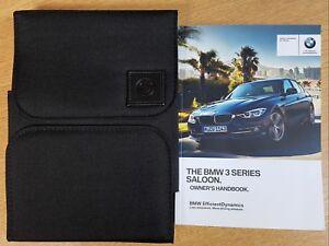 GENUINE-BMW-3-SERIES-2015-2019-SALOON-F30-HANDBOOK-OWNERS-MANUAL-iDRIVE-PACK