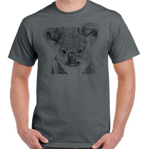 Koala Bear Homme Fashion T-shirt Australie Animal Sauvage Australien Top