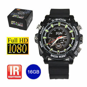 SMART-WATCH-TELECAMERA-NASCOSTA-HD-1080P-SPY-DVR-VIDEOREGISTRATORE-POLSO-SICUREZZA-16GB-UK