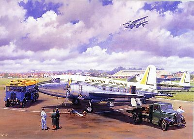 Reasonable Channel Airways Vickers Armstrong Viking Bristol 170 Aec Tanker Southend Scene
