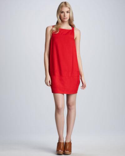 $375 Diane Von Furstenberg Cherry Red Dallas Sleeveless Shift Dress