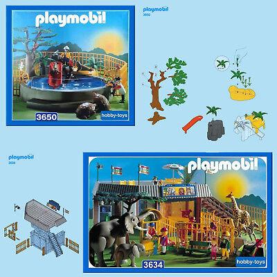 Playmobil Zoo 3634 Pièces de Rechange Clôture Mur Porte Coulissante Verre Tor