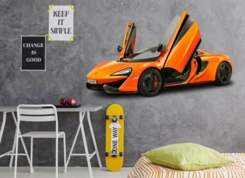 3D Mclaren O49 Car Wallpaper Mural Poster Transport Wall Stickers Amy