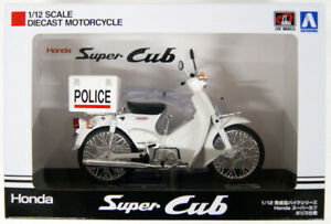 Aoshima-05689-Honda-Super-Cub-Police-Version-1-12-Scale-Finished-Model