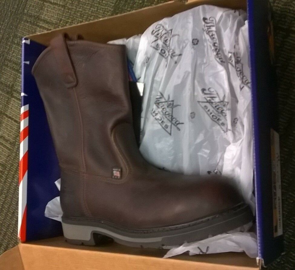 Thorogood Work Boots Slip Composet Safty Toe Slip Boots Resistant Leather size 8D 804-4211 4e177c