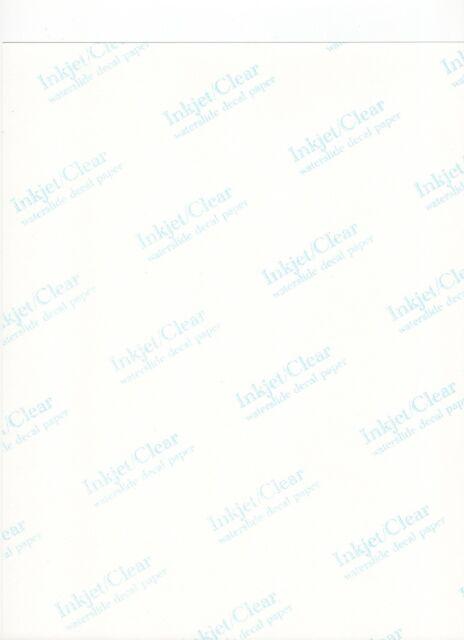 Feuille transparent vierge décals décalque décalcomanie
