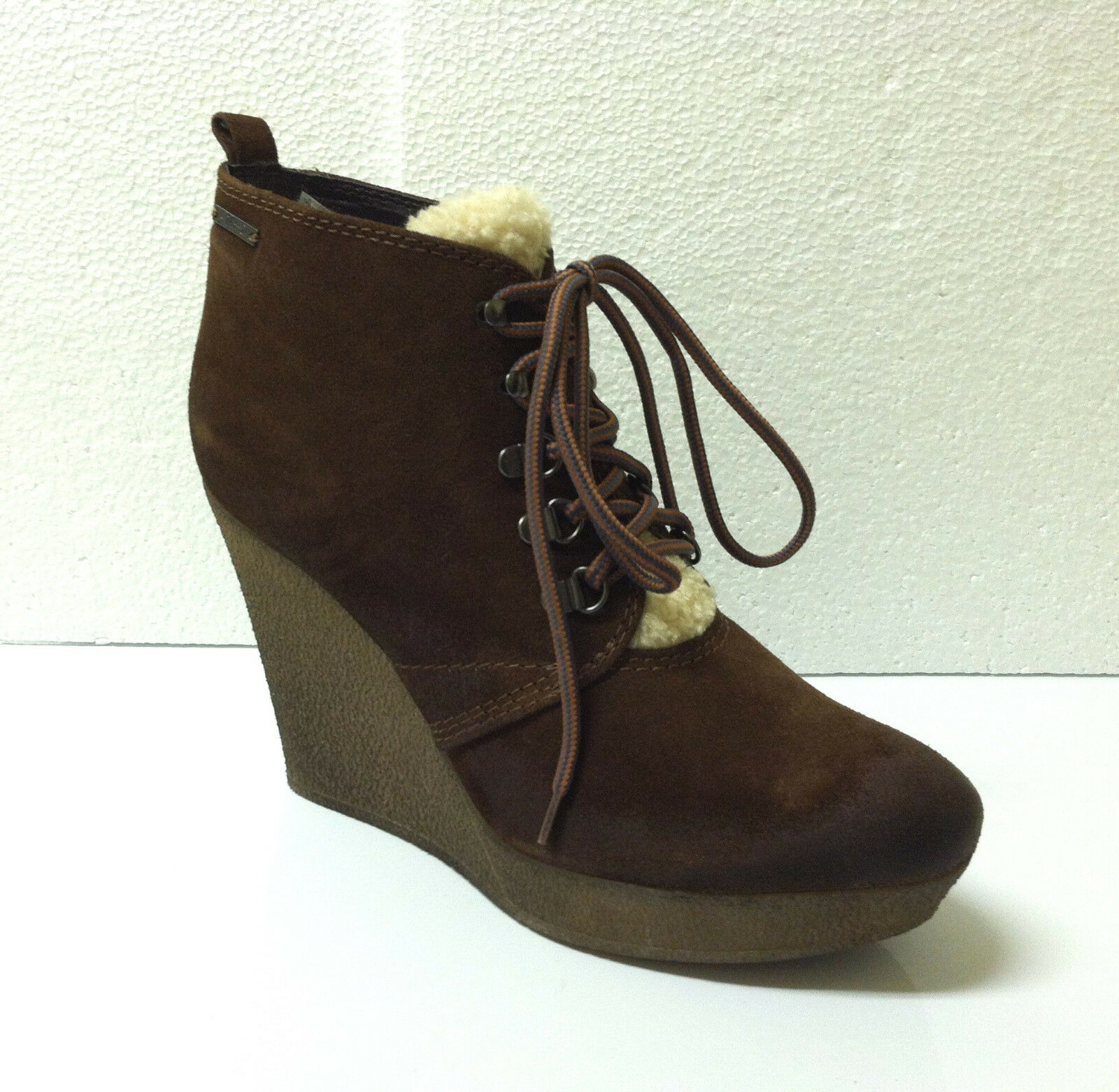 Diesel Enos Ankle Lace Up Boots Suede Leather Solid Solid Solid Brown Mustang Size 9 Medium 10ee3b