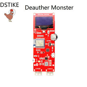 Details about WiFi Deauther Monster ESP8266 1 3OLED 8dB Antenna 18650 power  bank 2A quick char