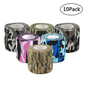 Non-woven-Self-adhesive-Bandage-Woodland-Camouflage-Stealth-Protective-Tape-W8H
