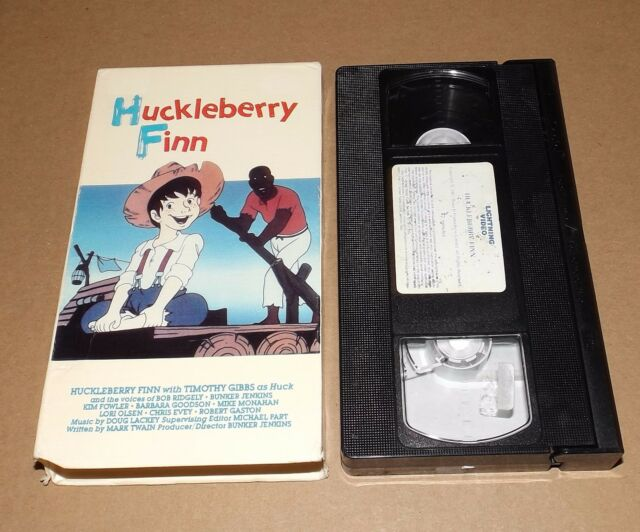 Huckleberry Finn vhs video animated LIGHTNING VIDEO