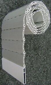 Rolladen Ersatz Lamellen Maßanfertigung PVC grau Breite 105 cm