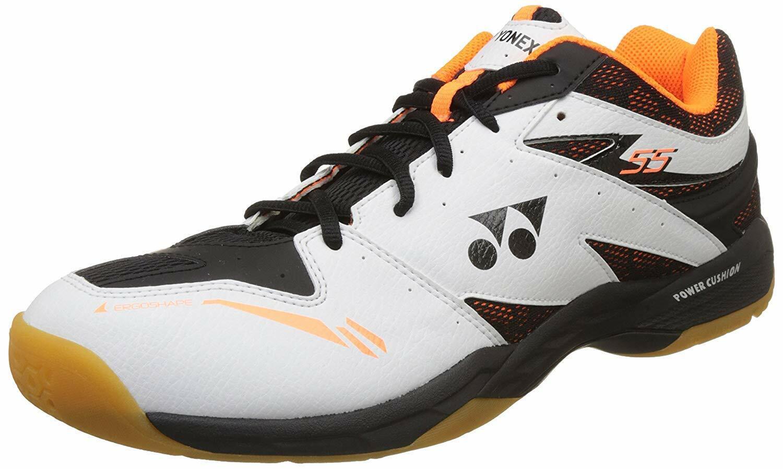 YONEX Badminton Schuh SHB 55 Weiß Orange Gr. 42 Neu & Portofrei