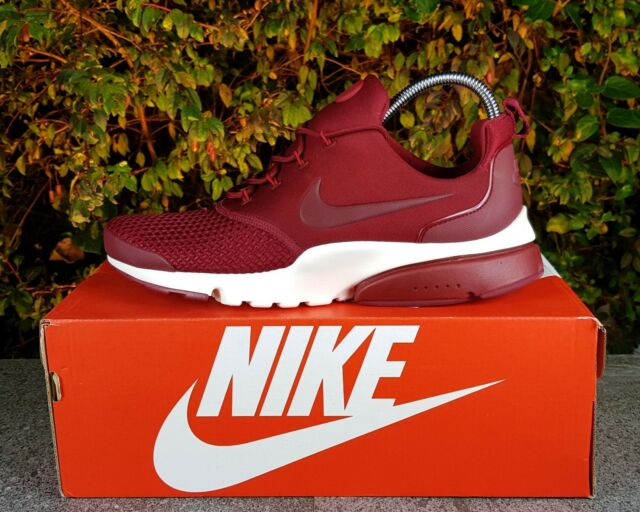 136156bfa5cdb BNWB   Genuine Nike ® Air Presto Fly SE Woven Team Red Trainers UK Size 8