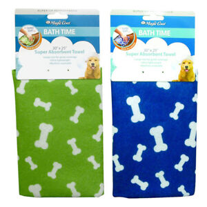 Dog-Towel-Bath-Time-For-Dogs-Super-Absorbent-Towel-30-034-X25-034-Four-Paws-Magic-Coat