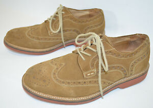 35580c4584a Image is loading Nordstrom-1901-Suede-Wingtip-Oxford-Shoes-M00214-Tan-