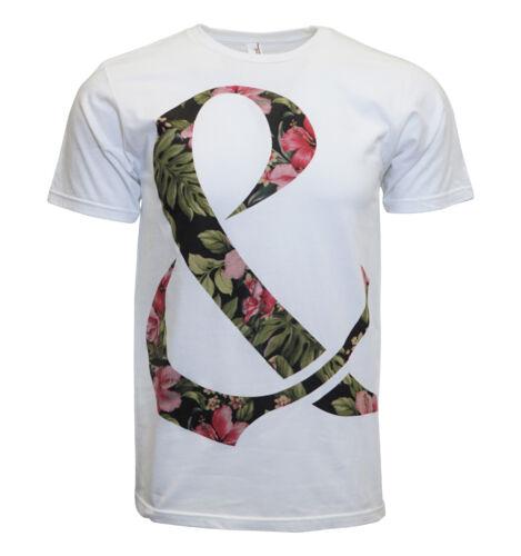 Of Mice /& Men Floral  Ampersand Dollar sign Men White T Shirt