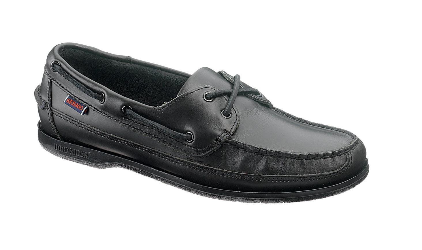 Sebago Schooner Men's Deck Boat Shoe B75942 Black NEW