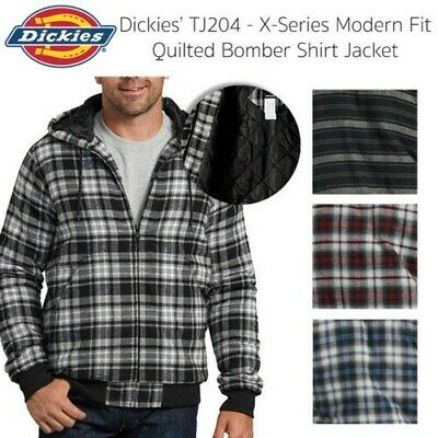 Dickies Mens Modern Fit Quilted Bomber Shirt Jacket