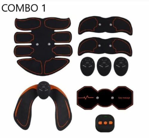 New Muscle Stimulator Combo SixPack Pad ABS Arms Hips Legs Body Slimming TraIner