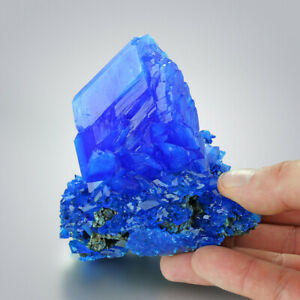 Premium-Quality-XXXL-Electric-Blue-CHALCANTHITE-Crystals-on-Matrix-from-POLAND
