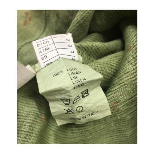 Lino Abito In Donna A2 Righe Verde 7186 Eccentrica Made Mod Italy 53 100 fiori vFZwq5dC