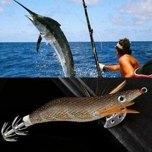 Squid-Artificial-Bait-Hook-Lure-Shrimp-Jig-Fishing-3g-12cm-Plastic-Hard-201-G9C8