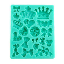 Crown King Queen Shape Soft Silicone Mold Fondant Mat Cake Decor Cupcake 1pc