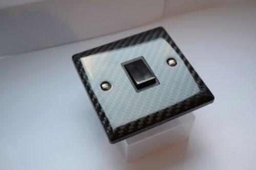 100/% Réel Fibre de Carbone * Fibre De Carbone Interrupteur De Lumière