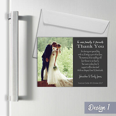 Personalised Magnetic Wedding Thank You